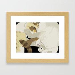 Gourdie and Pumpkin Framed Art Print