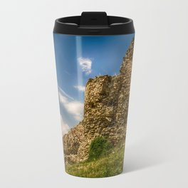 Ruins of an old fortress on a hill Travel Mug