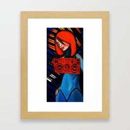 Boob Box Orange Framed Art Print
