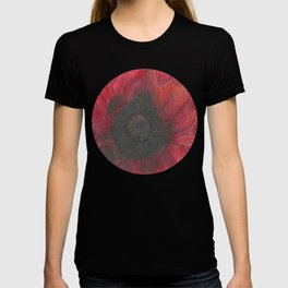 Heart of the Poppy by Candy Medusa T-shirt