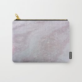 Elegant Pink Polished Marble Carry-All Pouch