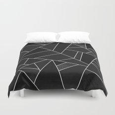 Black Stone Duvet Cover