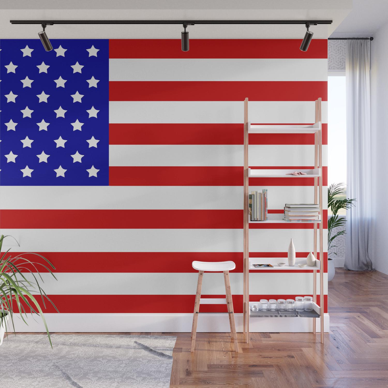Original American Flag Wall Mural By