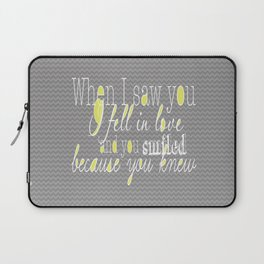 When I Saw You (Yellow) Laptop Sleeve