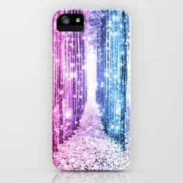 Magical Forest : Pastel Pink Lavender Aqua Periwinkle Ombre iPhone Case