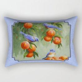Bluebirds and Peaches Rectangular Pillow
