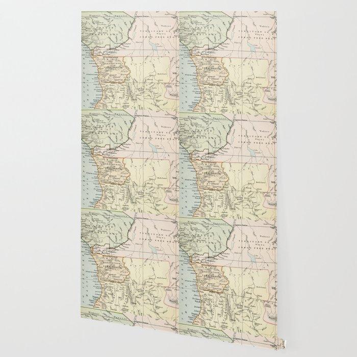 Central Africa Vintage Map Wallpaper