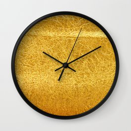 Crinkled Gold Foil Texture Christmas/ Holiday Wall Clock