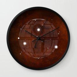 Constellation Death Star Wall Clock