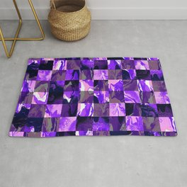 Violet Checkers Rug