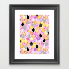 Citrus, Cotton Candy & Licorice Watercolor Scales Framed Art Print