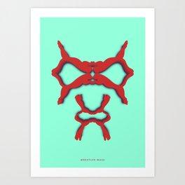 Symmetry: Wrestler Mask Art Print