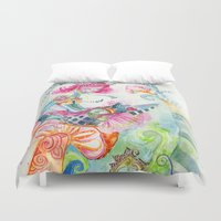 alice in wonderland Duvet Covers featuring WonderLand by Kao Lee Thao @InnerSwirl.com