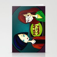 daria Stationery Cards featuring Daria by Paz Huichaman