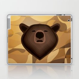 Camouflage gradient bear selfie Laptop & iPad Skin
