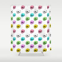 sarcasm Shower Curtains featuring Dripping With Sarcasm by zombieCraig