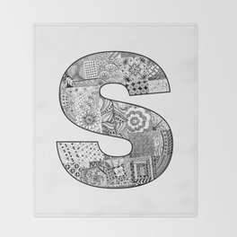 Cutout Letter S Throw Blanket