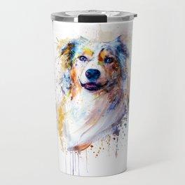 Australian Shepherd Portrait Travel Mug
