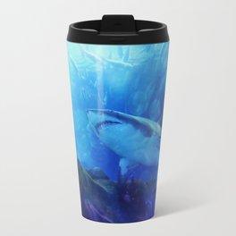 Make Way for the Great White Shark King  Travel Mug