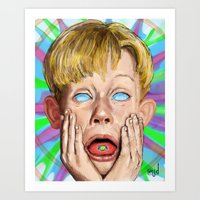 home alone Art Prints featuring Home Alone by Maxine du Maine