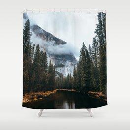 Misty Yosemite River Shower Curtain