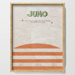 Juno - Alternative Movie Poster, classic movie, funny movie, minimal movie poster Serving Tray