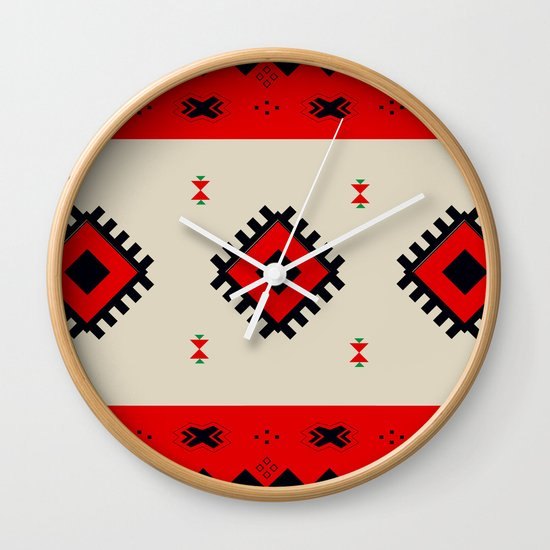 Romanian Pattern Wall Clock