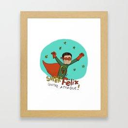 Super Félix contre-attaque ! Framed Art Print