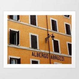 Albergo Abruzzi Art Print