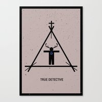 true detective Canvas Prints featuring True Detective by Deep Search