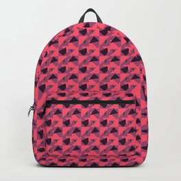 Pastel Red Abstract pattern Backpack