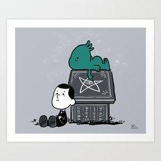 Call of Snoophulhu Art Print