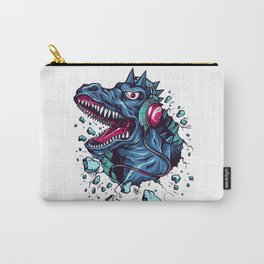 Dino with Headphones BLUE Orient Carry-All Pouch