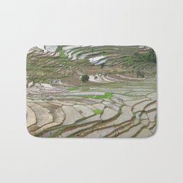 Rice fields terraced terrace Bath Mat