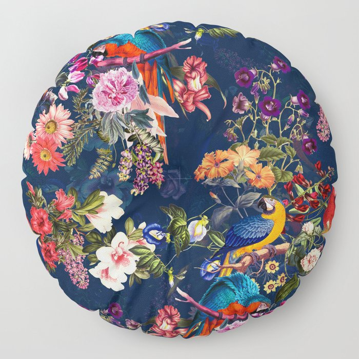 FLORAL AND BIRDS XII Floor Pillow