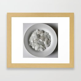 White on White on White Framed Art Print