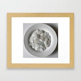 White on White on White Framed Art Print