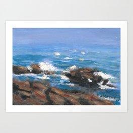 Cape Neddick Shore Route of Maine Art Print