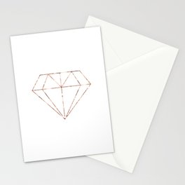 Rose gold foil diamond Stationery Cards