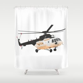 Russian Mi-171 Helicopter Shower Curtain