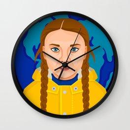 Greta Thunberg Wall Clock