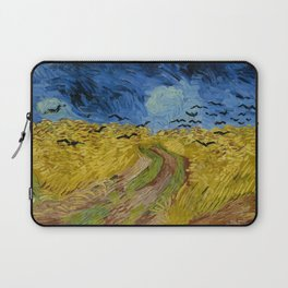 Wheatfield with Crows Painting by Vincent van Gogh Laptop Sleeve