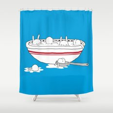 Bunny Soup Shower Curtain