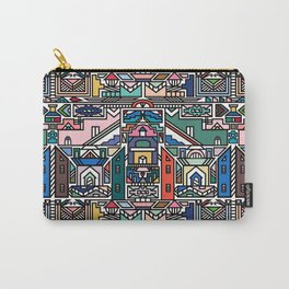 Ndebele Village Carry-All Pouch
