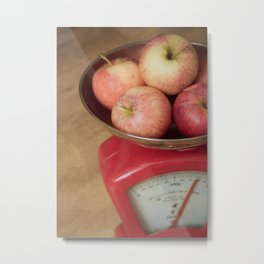 Vintage Apples In Scales Photograph Metal Print