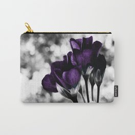 Purple Flowers Pop Of Color Carry-All Pouch