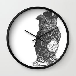 Owl Skool Wall Clock