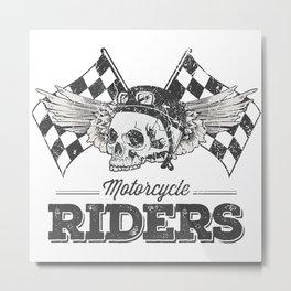 Motorcycle Riders | Bikers gift Metal Print