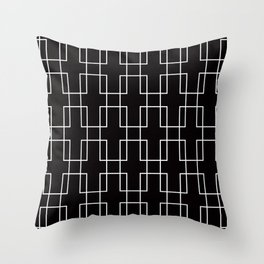 Geometric Pattern #52 (outline rectangles) Throw Pillow
