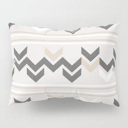 Geometric Arrowhead Charcoal Gold And White Grunge Pattern Pillow Sham